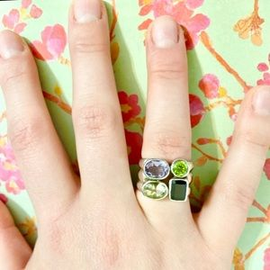 Jewelry - ✳️Silver Ring with Multicoloured Stones